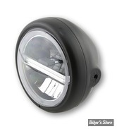 "5 3/4 - PHARE LED - HIGHSIDER - Pecos Type 6 Headlamp, 5 3/4"" - ECLAIRAGE LED - NOIR - MONTAGE LATERAL"