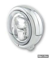 """5 3/4 - PHARE LED - HIGHSIDER - Pecos Type 7 Headlamp, 5 3/4"""" - ECLAIRAGE LED - CHROME"""