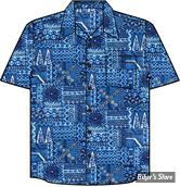 CHEMISE - HIGH SEAS - HAWAII BORA BORA - COULEUR : BLEU - TAILLE XXL