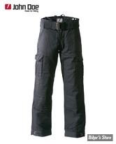 PANTALON - JOHN DOE - CARGO PANTS WITH KEVLAR LINING - COULEUR : NOIR - TAILLE US 36/34