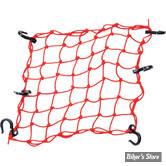 "FILET CARGO - POWERTYE - CARGOT NET - DIMENSIONS : 15"" X 15"" (38CM X 38CM) - COULEUR : ROUGE"