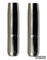 ECLATE N - PIECE N° 21 - TUBES DE FOURCHES CHROMES 35MM XL75/83 / FX - 23 1/4 - CUSTOM CYCLE ENGINEERING - SHOW CHROME