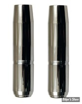 TUBES DE FOURCHES CHROMES 35MM XL75/83 / FX - 27 1/4 - CUSTOM CYCLE ENGINEERING - SHOW CHROME