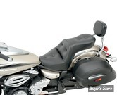 SELLE SADDLEMEN - EXPLORER RS - SADDLEGEL - YAMAHA XVS 650 DRAG STAR / VSTAR CUSTOM 00/14 - SANS DOSSERET CONDUCTEUR - SADDLEHYDE - NOIR
