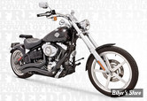 ECHAPPEMENT FREEDOM PERFORMANCE - SHARP CURVE RADIUS - 2 EN 2 - SOFTAIL ROCKER 08/11 & BREAKOUT 13UP - NOIR