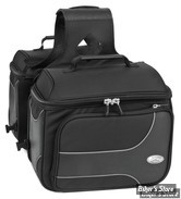 SACOCHES CAVALIERE - RIVER ROAD - TEXTILE SADDLEBAGS - SPECTRUM - TAILLE : MEDIUM - STYLE : BOX