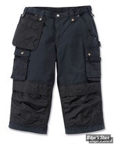 SHORT - CARHARTT - MULTIPOCKET RIPSTOP PIRATE PANT - COULEUR : BLACK - TAILLE 30