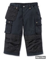 SHORT - CARHARTT - MULTIPOCKET RIPSTOP PIRATE PANT - COULEUR : BLACK - TAILLE 36