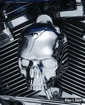 COUVRE KLAXON KURYAKYN SKULL - Skull Horn Cover for Waterfall Style Horn Covers - CHROME - 5730