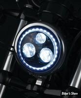 """5"""" 3/4 - OPTIQUE LED - KURYAKYN - ORBIT VISION 5 3/4"""" LED HEADLIGHT - AVEC HALO ECLAIRAGE BLANC - 2462"""