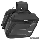 SACOCHES CAVALIERE - RIVER ROAD - TEXTILE SADDLEBAGS - SPECTRUM - TAILLE : MEDIUM - STYLE : SLANT