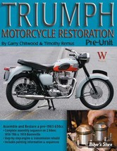 RESTAURATION - TRIUMPH MOTORCYCLE RESTAURATION PRE UNIT