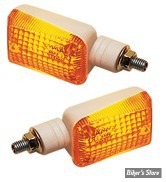 CLIGNOTANTS K&S TECHNOLOGIES INC.- UNIVERSAL MINI-STALK MARKER LIGHT - RECTANGLE - CORPS: BLANC / CABOCHON : ORANGE