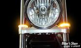CLIGNOTANTS LED - CUSTOM DYNAMICS - TRUWRAPZ - 56MM - ECLAIRAGE ORANGE / TUBE : Fumé