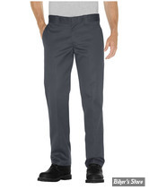 PANTALON - DICKIES - SLIM STRAIGHT 873 WORK PANT - COULEUR : CHARCOAL - TAILLE 30/30