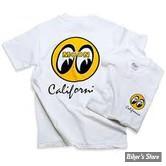 TEE-SHIRT - MOON - MOON CALIFORNIA - COULEUR : BLANC