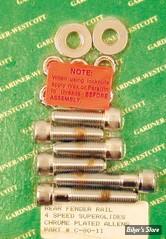 KIT VISSERIE DE SABRES ET DE GB AR - FX 71/85 - CHROME - GARDNER WESCOTT - C-80-11