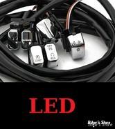 ECLATE L - PIECE N° 60 - INTERRUPTEURS DE GUIDON - TOURING 07/13 AVEC RADIO - MCS - CHROME - BACKLITE LED / ECLAIRAGE LED