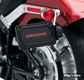 PLAQUE LATERALE - KURYAKYN - SOFTAIL MILWAUKEE EIGHT 18UP - NOVA SIDE MOUNT LICENSE PLATE FRAME - NOIR BRILLANT - 3142