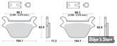 PLAQUETTES - 44209-87C - SBS 2 - STREET CARBON TECH ORGANIC