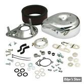- FILTRE A AIR - S&S - Teardrop - Sportster 91up - Avec Carburateur d'Origine ou Injection EFI - Chrome