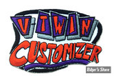"ECUSSON/PATCH - V-TWIN - V-TWIN CUSTOMIZER - TAILLE : 3"" X 2.1"" ( 7.60 CM X 5.30 CM ) - LA PAIRE"