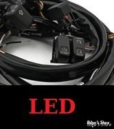 INTERRUPTEURS DE GUIDON - TOURING 07/13 AVEC RADIO - MCS - NOIR - BACKLITE LED / ECLAIRAGE LED