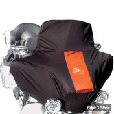 "COUVERTURE DE CARENAGE - TOURING HD FLH/FLHT/FLHX - BIKESHEATH - POUR PARE BRISE DE 12"" DE HAUTEUR - COULEUR : NOIR / ORANGE"