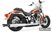 ECHAPPEMENT FREEDOM PERFORMANCE TRUE DUAL - RACING - SOFTAIL 07/17 - CORPS CHROME/ SORTIE NOIR