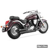 ECHAPPEMENT VANCE & HINES - TWIN SLASH STAGGERED - SUZUKI BOULEVARD & VL 800 INTRUDER 05/09 - NOIR