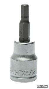 "Embout ALLEN / BTR US - 4.8MM / 3/16"" - CARRE DE 3/8"" - Teng Tools"