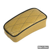 SELLE LE PERA - SOLO - METALFLAKE - SOLID GOLD DIAMOND - BIAIS NOIR : POUF