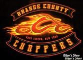 TEE-SHIRT - ORANGE COUNTY CHOPPERS - OCC - FLAMME - COULEUR : NOIR - TAILLE 3 / M