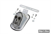 FEU ARRIERE - TOMBSTONE - ECLAIRAGE LED - CHROME - Skull