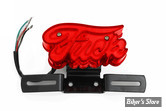 FEU ARRIERE CHOPPER / HOT ROD - FUCK - ECLAIRAGE : LED - AVEC SUPPORT DE PLAQUE