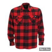 CHEMISE MANCHES LONGUES - DICKIES - SACRAMENTO SHIRT - COULEUR : ROUGE - TAILLE S