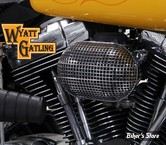 - FILTRE A AIR - WAYTT GATLING - BIGTWIN 93/07 - NID D'ABEILLE - OVAL - CHROME - COMPLET
