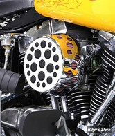 - FILTRE A AIR - WYATT GATLING - BIGTWIN 93/07 - ROND HOLE DESIGN - CHROME - COMPLET