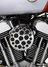 - FILTRE A AIR - WYATT GATLING - SPORTSTER 91UP - ROND - DRILLED - CHROME - COMPLET