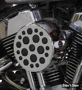 - FILTRE A AIR - WYATT GATLING - SPORTSTER 91UP - ROND HOLE - CHROME- COMPLET