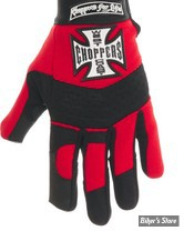 GANTS - WEST COAST CHOPPERS - WCC - PAY UP SUCKER - COULEUR : NOIR / ROUGE