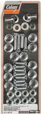 KIT VISSERIE DE SABRES ET DE GB AR - SOFTAIL FXST86/99 - CHROME - COLONY