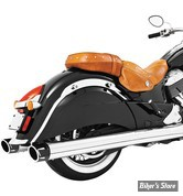 "SILENCIEUX - INDIAN CHIEFTAIN / ROADMASTER / SPRINGFIELD - FREEDOM PERFORMANCE - COMBAT - 4"" 1/2 - CORPS : CHROME / EMBOUT : NOIR"