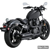 ECHAPPEMENT VANCE & HINES - TWIN SLASH STAGGERED - YAMAHA XV / XVS 950 BOLT 14UP - NOIR - 48531