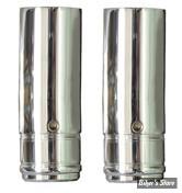 ECLATE N - PIECE N° 21 - TUBES DE FOURCHES CHROMES 39MM XL88/06 ET FXR 87/94 - 22 1/4 - CUSTOM CYCLE ENGINEERING - SHOW CHROME