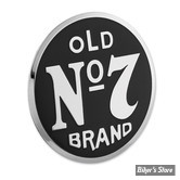 BADGE / MEDAILLON - JACK DANIEL'S - OLD N°7 BRAND - NOIR / LOGO CHROME