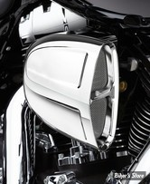 - FILTRE A AIR - COBRA - SOFTAIL 01/15 / DYNA 99/17 - TOURING 02/07 - COBRA - POWERFLOW - CHROME