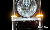 CLIGNOTANTS LED - CUSTOM DYNAMICS - TRUWRAPZ - 49MM - ECLAIRAGE ORANGE / TUBE : ORANGE