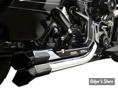 ECHAPPEMENT LA CHOPPERS FUSION EXHAUST SYSTEM - COLLECTEUR CHROME / PARES CHALEUR NOIR / EMBOUTS NOIR