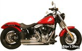 ECHAPPEMENT RUSH - FULL SYSTEM - SHORT STYLE - SOFTAIL 86/17 - STRAIGHT CUT - CHROME